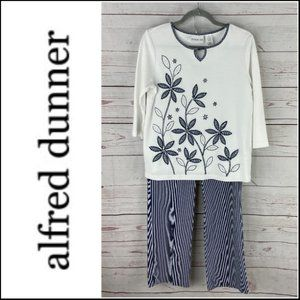 *3/$18*Alfred Dunner Women's Blouse & Pant Set